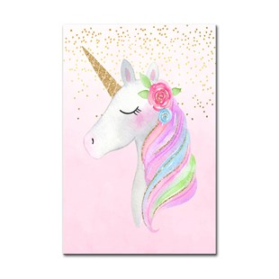 Beautiful Unicorn Kanvas Tablo Tablo Plus