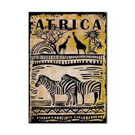 Afrika Zebra Kanvas Tablo