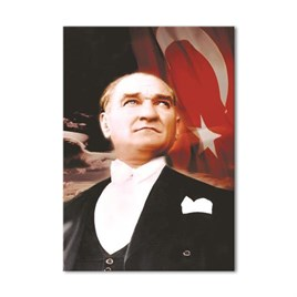 Atatürk ve Bayrak Kanvas Tablo