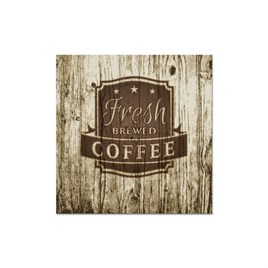 Fresh Coffee Wood Kanvas Tablo