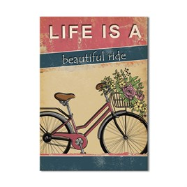 Life Is a Ride  Kanvas Tablo