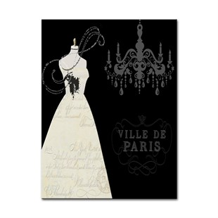 Villa Paris Retro  Canvas Tablo