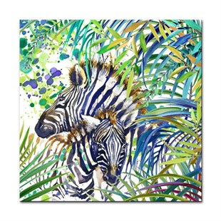 Tropik Zebra Canvas Tablo